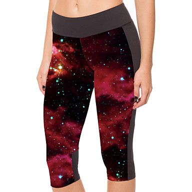 Women's Running Tights Baselayer Compression 3/4 Tights Pants/Trousers/Overtrousers Bottoms for Yoga Exercise & Fitness Polyester Tight