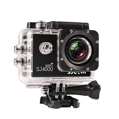 abordables Appareils Photos de Sports & Accessoires GoPro-SJCAM SJ4000 WIFI Caméra d'action / Caméra sport 8 mp / 5 mp / 3 mp GoPro Loisirs d'Extérieur 1920 x 1080 Pixel Imperméable / WiFi 4X ± 2EV 1.5 pouce CMOS 32 GB H.264 30 m / Mobile Android