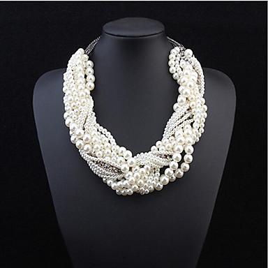 Damen Perle Mehrschichtig Statement Ketten / Layered Ketten / Perlenkette - Perle Erklärung, Europäisch, Modisch Farbbildschirm Modische Halsketten Schmuck Für