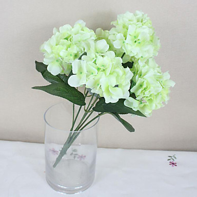 Yapay Çiçekler 1 şube Pastoral Stil Ortancalar Masaüstü Çiçeği