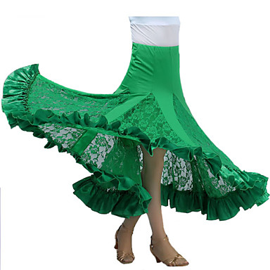 Dança de Salão Tutos e Saias Mulheres Espetáculo Fibra de Leite Pregueado Saia