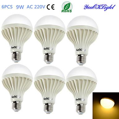 YouOKLight 700 lm E26/E27 LED Küre Ampuller B 15 led SMD 5630 Dekorotif Sıcak Beyaz AC 220-240V