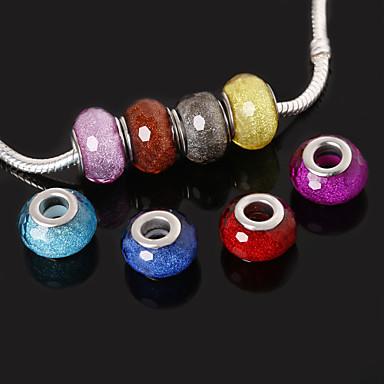 beadia 10db gyanta nagy lyuk gyöngyök 10x14mm illik Európai nyakláncok karkötők