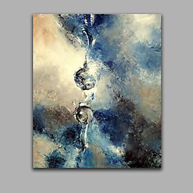 Kézzel festett Absztrakt Függőleges Panorámás,Modern Egy elem Vászon Hang festett olajfestmény For lakberendezési