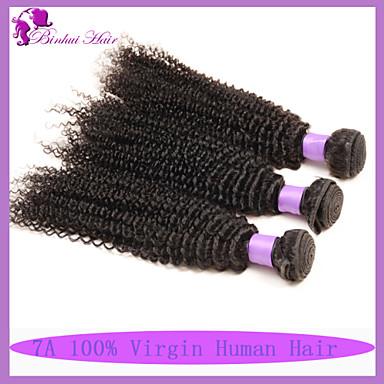 Tissages de cheveux humains Cheveux Brésiliens Très Frisé 6 Mois 3 Pièces tissages de cheveux
