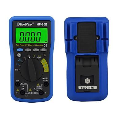lcd display digital faixa auto multímetro instrumento multifuncional hp holdpeak-90e