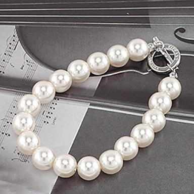 Mulheres Pulseiras Strand - Pérola, Imitação de Pérola Original, Fashion Pulseiras Branco Para Festa / Diário / Casual