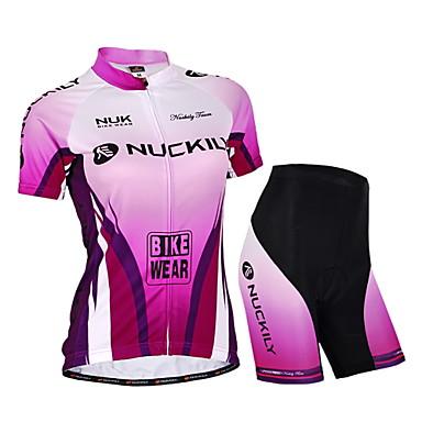 Nuckily Keréspáros dzsörzé nadrággal Női Uniszex Rövid ujjú Bike Dzsörzé Rövidnadrágok Ruházati kollekciók Kerékpáros ruházat Vízálló