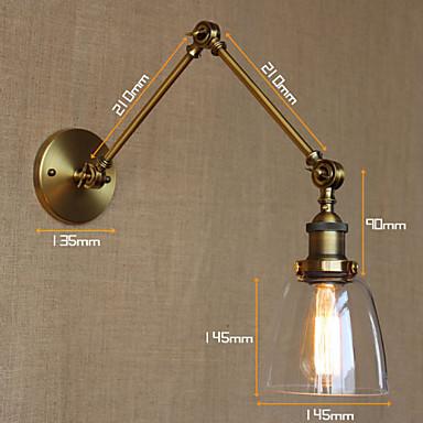 AC 100-240 40 E26/E27 Rusztikus Festmény Funkció for Izzót tartalmaz,Hangulatfény falikar