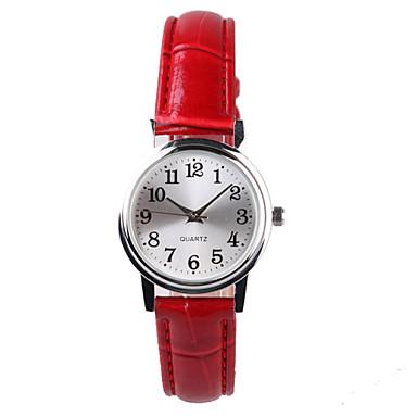 Kadın's Moda Saat Quartz Su Resisdansı PU Bant Kırmızı
