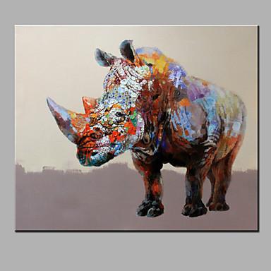 El-Boyalı Hayvan Yatay,Modern Tek Panelli Hang-Boyalı Yağlıboya Resim For Ev dekorasyonu