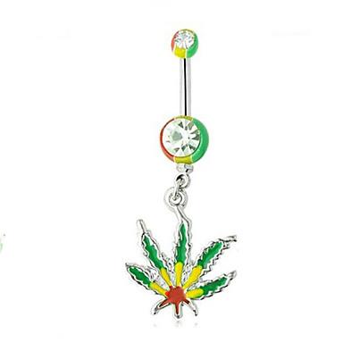 Női Testékszer Navel & Bell Button Rings Rozsdamentes acél Divat Zöld Világoszöld Ékszerek Napi Hétköznapi 1db