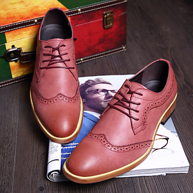 Men's Shoes Office & Career / Party & Evening / Casual Oxfords Black / Blue / Red / Khaki
