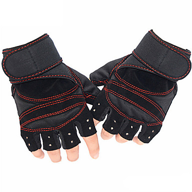 Sports Gloves Bike Gloves / Cycling Gloves Moisture Permeability / Breathable / Shockproof Fingerless Gloves Lycra / Cotton Leisure