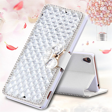 Case For Sony Xperia Z3 / Other / Sony Xperia Z3 / Sony Case Card Holder / Rhinestone / with Stand Full Body Cases 3D Cartoon Hard PU Leather for Sony Xperia Z3 / Z3+ / Z4 / other