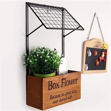 Fashion Decorative Crafts Goods Shelf  Wooden Kitchen Storage Wall Flower Shelf