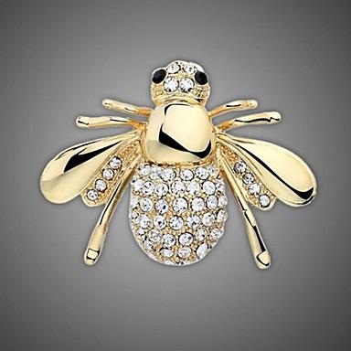 aranyozott / strasszos bross / női divat állatot méhészet bross / esküvői / party 1db