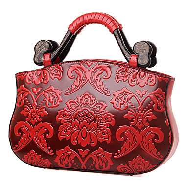 Women Bags PU Shoulder Bag Tote Satchel for Wedding Event/Party Shopping Casual All Seasons Red Green Blue