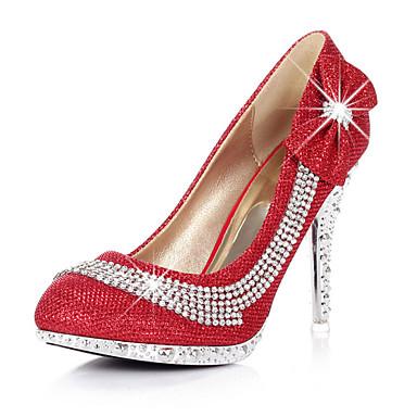 Ženske cipele - Salonke / štikle - Vjenčanje / Formalne prilike / Zabava i večer - Sintetika - Stiletto potpetica - Štikle -Crvena /