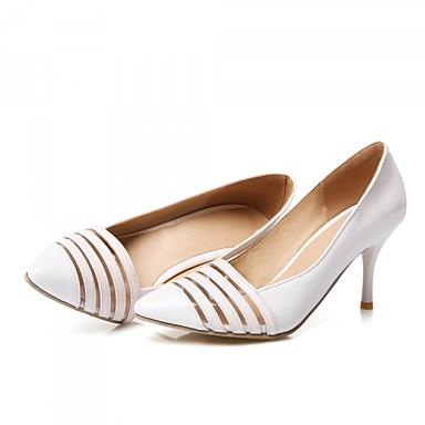 Magassarkú / Hegyes orrú - Stiletto - Női cipő - Magassarkú - Esküvői / Ruha / Party és Estélyi - Glitter / Mikroszálas -Fekete / Piros /