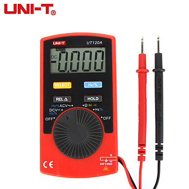 UNI-T UT120A Pocket Size Type Auto-range DMM Digital Multimeter DC / AC Voltage Resistance Frequency Tester