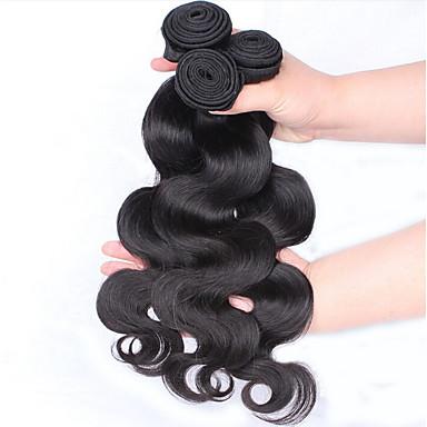 Cabelo Humano Ondulado Cabelo Brasileiro Onda de Corpo 18 Meses 3 Peças tece cabelo