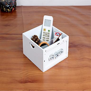 Zakka fadobozban multifunkciós asztali kozmetikai ékszer tároló doboz