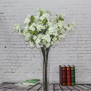 Artificial Flowers 1 Branch European Style Sakura Tabletop Flower