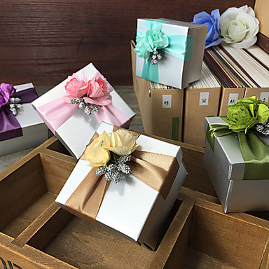 Cubic Card Paper Favor Holder With Gift Boxes-6 Wedding Favors