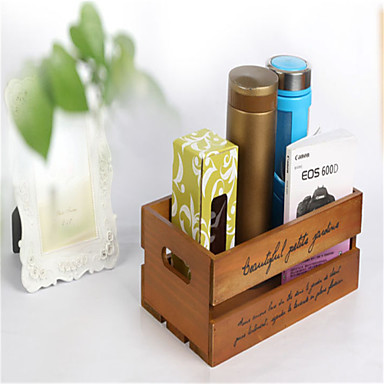 Hollow Wood Cosmetic Storage Box Multifunctional Desktop Socks Storage Box
