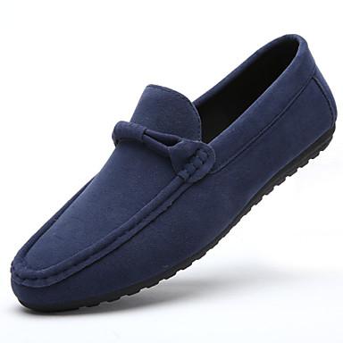 Muškarci Proljeće Ljeto Jesen Zima Udobne cipele Brušena koža Ured i karijera Ležeran Ravna potpetica Crna Plava Siva Narančasta