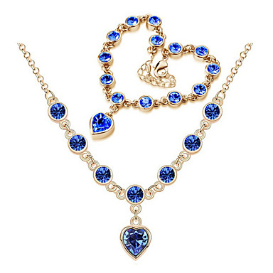 Women's Crystal Wedding Party Birthday Engagement Gift Daily Casual Necklaces Bracelets & Bangles Costume Jewelry