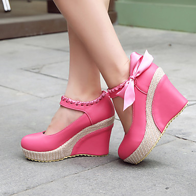 Women's Shoes Leatherette Spring Summer Platform Wedge Heel for Casual Office & Career Dress Gold Silver