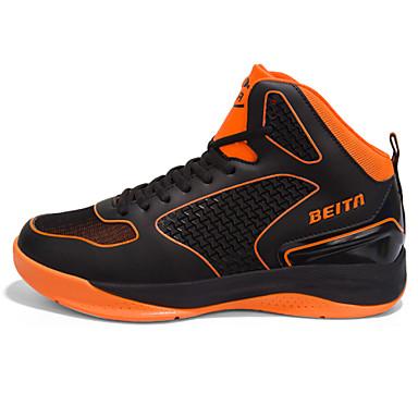 Sneakers-PU-Komfort-Herre-Sort Blå Hvid Orange-Fritid-Flad hæl