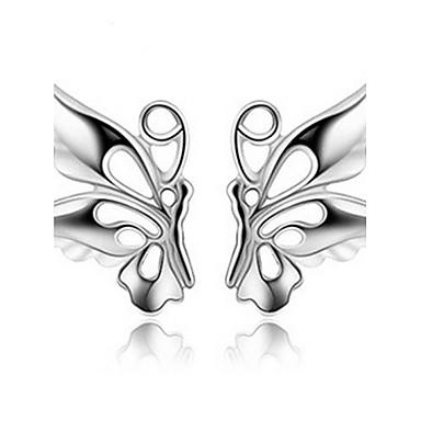 Kadın's Vidali Küpeler - İnci Kelebek, Hayvan Ekran Rengi Uyumluluk