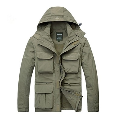 Hunting Jacket Men's Waterproof Thermal / Warm Quick Dry Windproof Ultraviolet Resistant Rain-Proof Front Zipper Anti-Insect Wearable