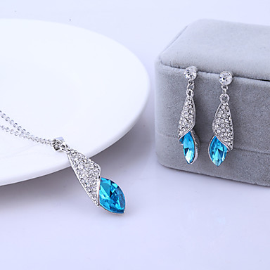 Women's Crystal Wedding Party Daily Casual Earrings Necklaces Costume Jewelry