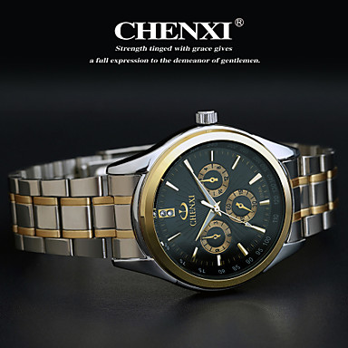 CHENXI® Men's Wrist Watch Casual Watch Stainless Steel Band Charm Silver / Two Years / Maxell626+2025