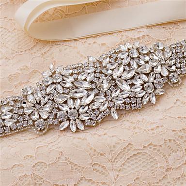 Saten Vjenčanje Zabava / večer Svakodnevica Pojas With Štras Kristal Perlica Aplikacije Žene Pojasi