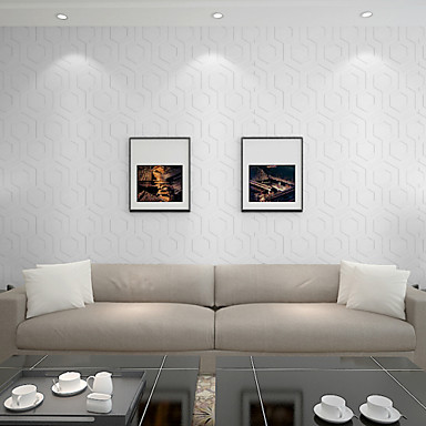 Geométrica Decoração para casa Moderna Revestimento de paredes, Papel não tecido Material adesivo necessário Cobertura para Paredes de