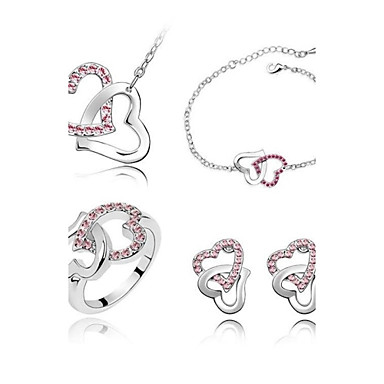 Women's Wedding Party Daily Casual Crystal Alloy Rings Earrings Necklaces Bracelets & Bangles