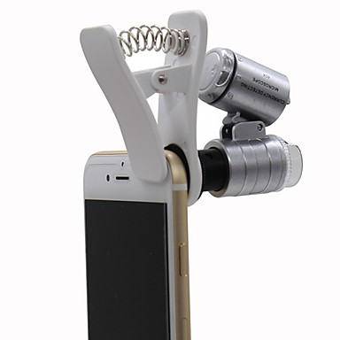Monocular Microscôpio Lupas Genérico 60x Plástico