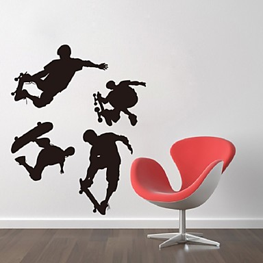 Skater Boy Removable Art Room Wall Sticker Decal Mural Home Decor