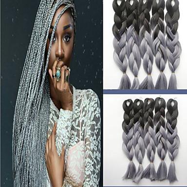 색상 화학 섬유 브레이드 아프리카 검은 가발 색 그라데이션