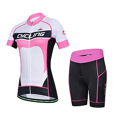 cheji® Biciklistička majica s kratkim hlačama Žene Kratki rukav Bicikl Rukavi Biciklistička majica Kratke hlače Kompleti odjećeQuick dry
