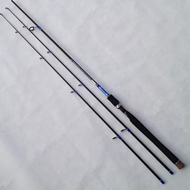 חכת ספינינג כבל פלדה אלומיניום EVA פַּחמָן 2.1 סנטימטר הטלת פיתיון דייג במים מתוקים דיג כללי 3 מדורים רוד מתון (M) קלות בינונית (ML)