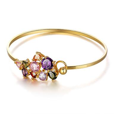 צמידי חפתים וינטאג' מסיבה עבודה זירקוניה מעוקבת ציפוי זהב צבע מסך תכשיטים Party תכשיטי תלבושות