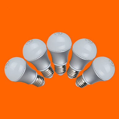 E26/E27 LED-pallolamput G60 12 SMD 3528 500 lm Lämmin valkoinen Kylmä valkoinen Koristeltu AC 220-240 V 5 kpl