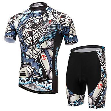 XINTOWN Camisa com Shorts para Ciclismo Unisexo Manga Curta Moto braço aquecedores Camisa/Roupas Para Esporte Conjuntos de Roupas Secagem