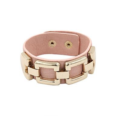 Damen Geometrisch Lederarmbänder - Leder Armbänder Schwarz / Beige / Rosa Für Hochzeit Party Alltag